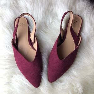 A new day flats miles pointed toe 8 faux suede